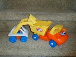 Little Tikes Toddle Tots Vintage Dump Truck & Excavator - $18