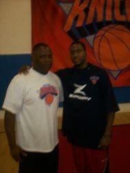 NY Knick Rookie Tony Douglas and Coach Howard