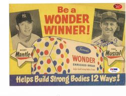 Mickey Mantle/Stan Musial Wonder Bread AD/Signed By Musial
