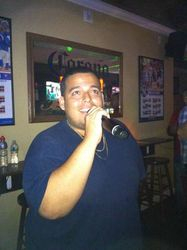 Fernando Jr. laying one down for the crowd at Legendary Friday Night Karaoke!