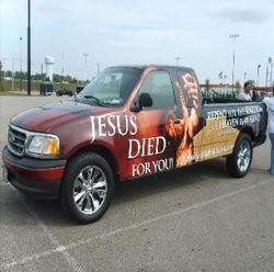 2003 Ford F 150 JESUS Custom Body Wrap