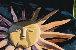 Sun Oil Painting