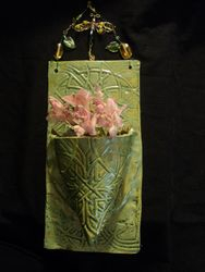 Spring green wall pocket
