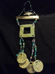 Egyptian beaded memory frame
