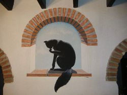 Gato Negro y Arco