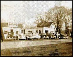Bahle's Gas station & store about 1938
