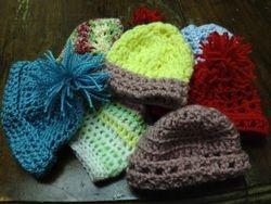Multicolored Preemie Caps