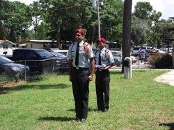 JROTC Retiring the Flag