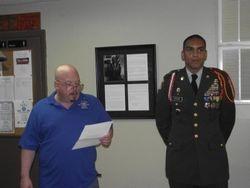 Men's Auxilary President and Cadet SGM Radford