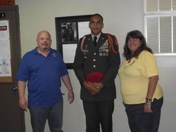 Ladies Auxiliary District Jr Vice, Men's Auxiliary President , Cadet SGM Radford