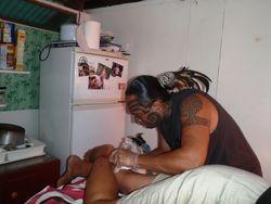 getting my tatoo