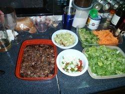Stir fry preparation