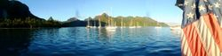 Moorea anchorage panoramic