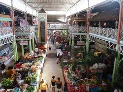 Pepeete, Tahiti downtown open air market