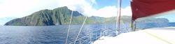 Approaching Fatu Hiva Bay of Virgins