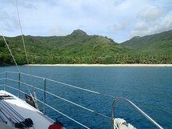 Remote beach anchorage