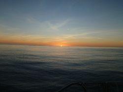 Typical ocean transit sunset