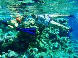 Ruth and Elizabeth snorkeling