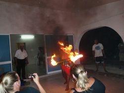 Manihi fire dance