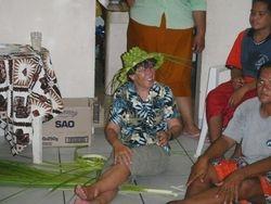 Palm fron hat