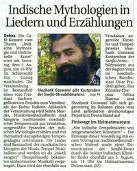 Saechsische Zeitung 4 August 2007