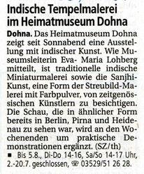 Saechsische Zeitung 11 June 2007