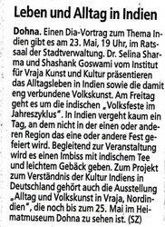 Saechsische Zeitung 21 May 2008