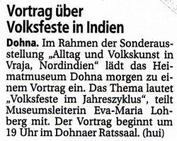 Saechsische Zeitung 22 May 2008