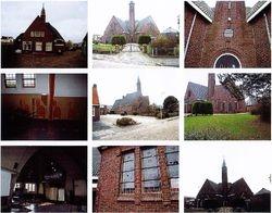 Fotocollage kerk