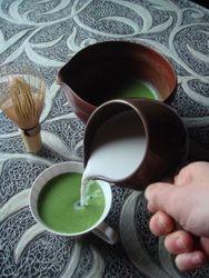 Delicious matcha latte
