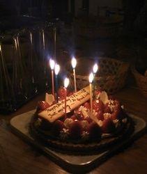 Birthday cake the Japanese way