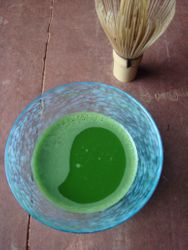 In summer also chilled matcha is delicious!