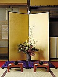 Ikebana arrangement, always is tune with the season