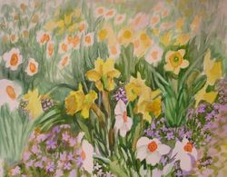 Daffodils and Myrtle
