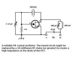 500 kHz Crystal Oscillator