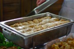 Mediteranian Stuffed Chicken with Garlic Cream Sherry Sauce