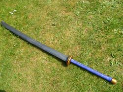 A custom curved Oriental style 2 handed sword