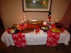 Jewish Food Table