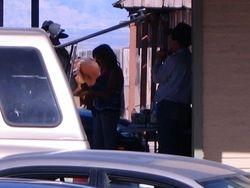 Actors shooting a scene