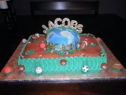 Jacobs World Babyshower Cake