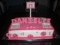 Girl's Basketball Birthday Cake