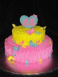 Butterfly Inspired Birthday Cake