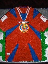 Costa Rica Soccer Jersey Replica Birthday Cake