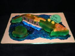 Island Of Cuba Birthday Cake
