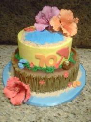 Hawaiin Burthday Cake