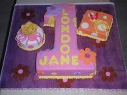 #1  w/ presents Birthday Cake