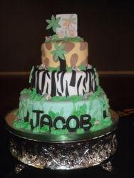 Jungle Themed Babyshower Cake