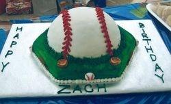 Boys Baseball Birthday Cake