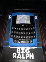 Blackberry Tour Replica w/ LED light (Blue) Birthday Cake