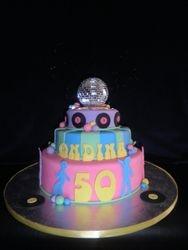 Disco Themed Birthday Cake